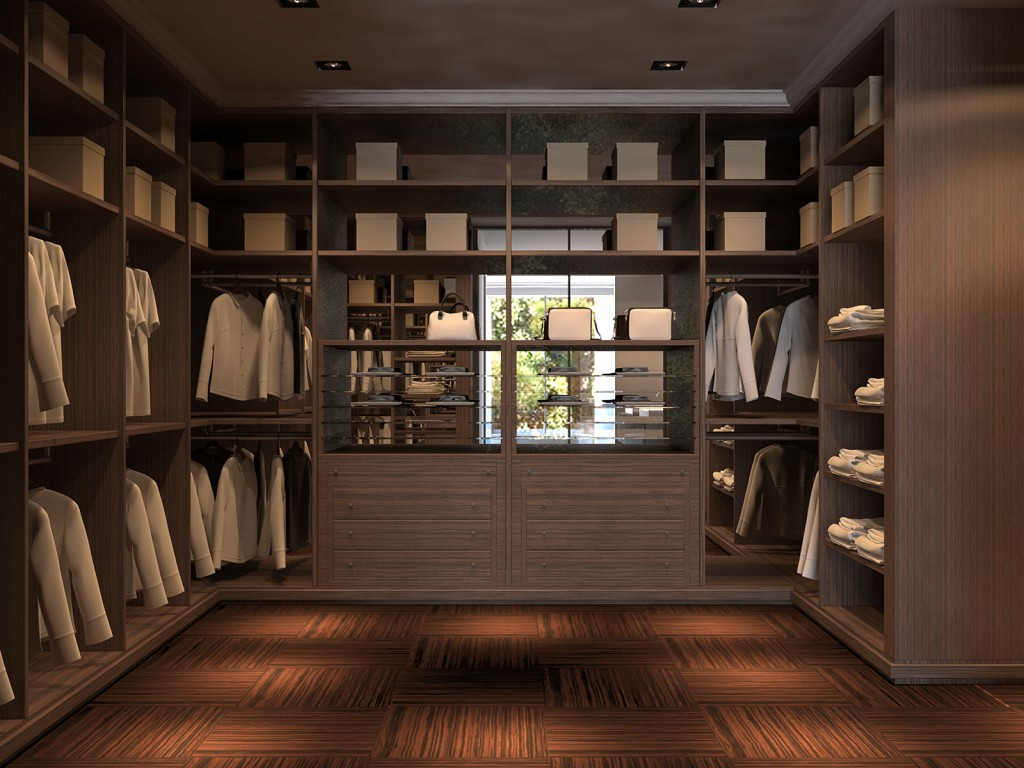 walk-in-closet-minimalist-picture-of-home-closet-and-storage-decoration-using-modern-walnut-wood-clo