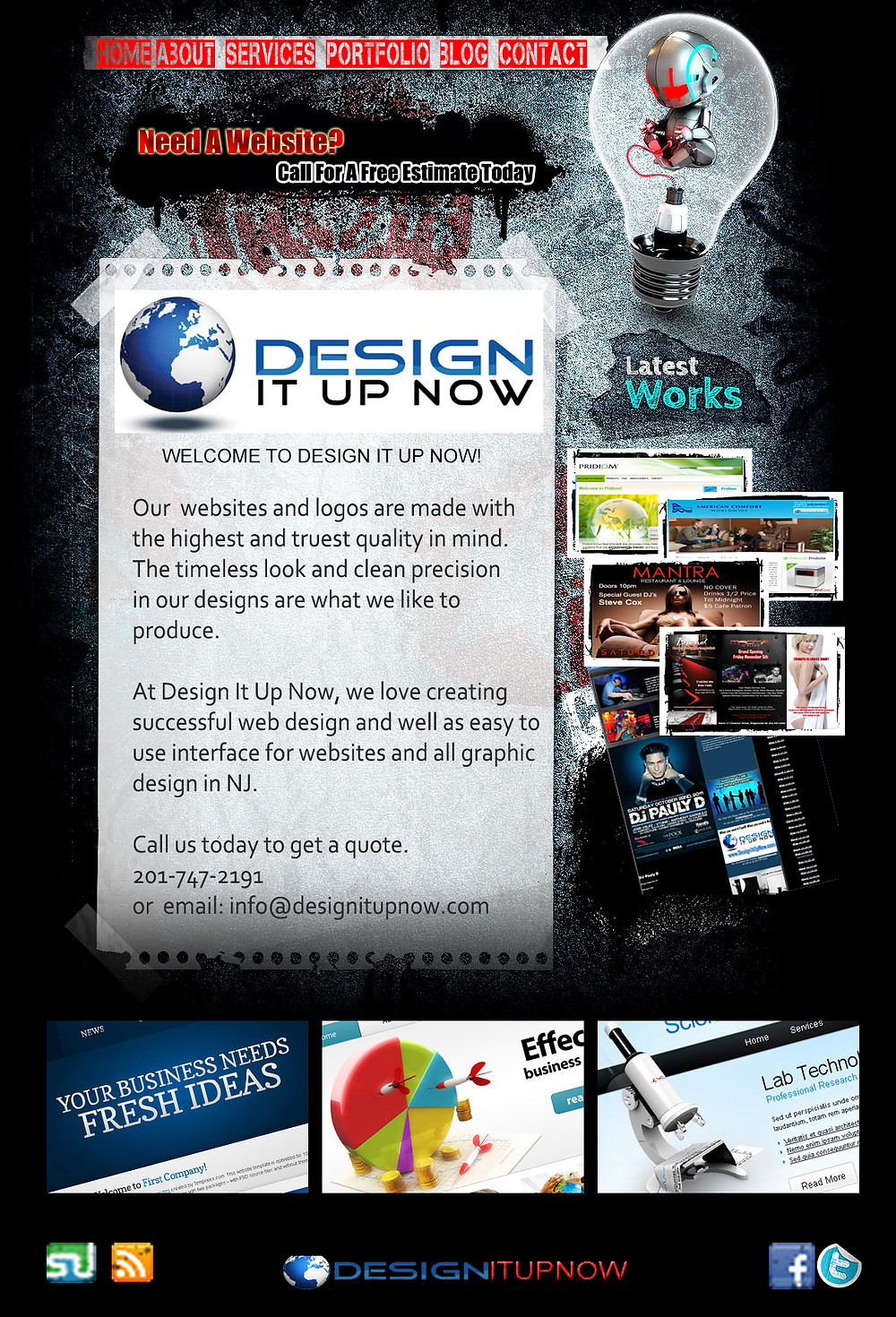 The Original Designitupnow site back in 2010