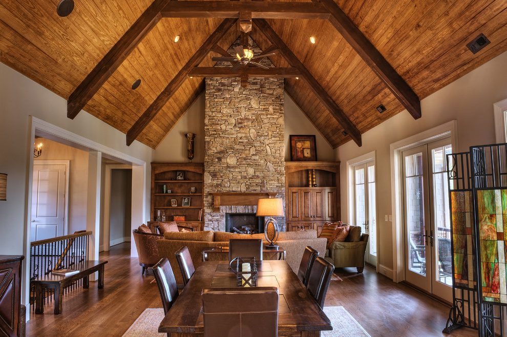 Wood-beam-ceilings-family-room-traditional-with-built-in-cabinets-dark-stained-wood-table-lamp copy