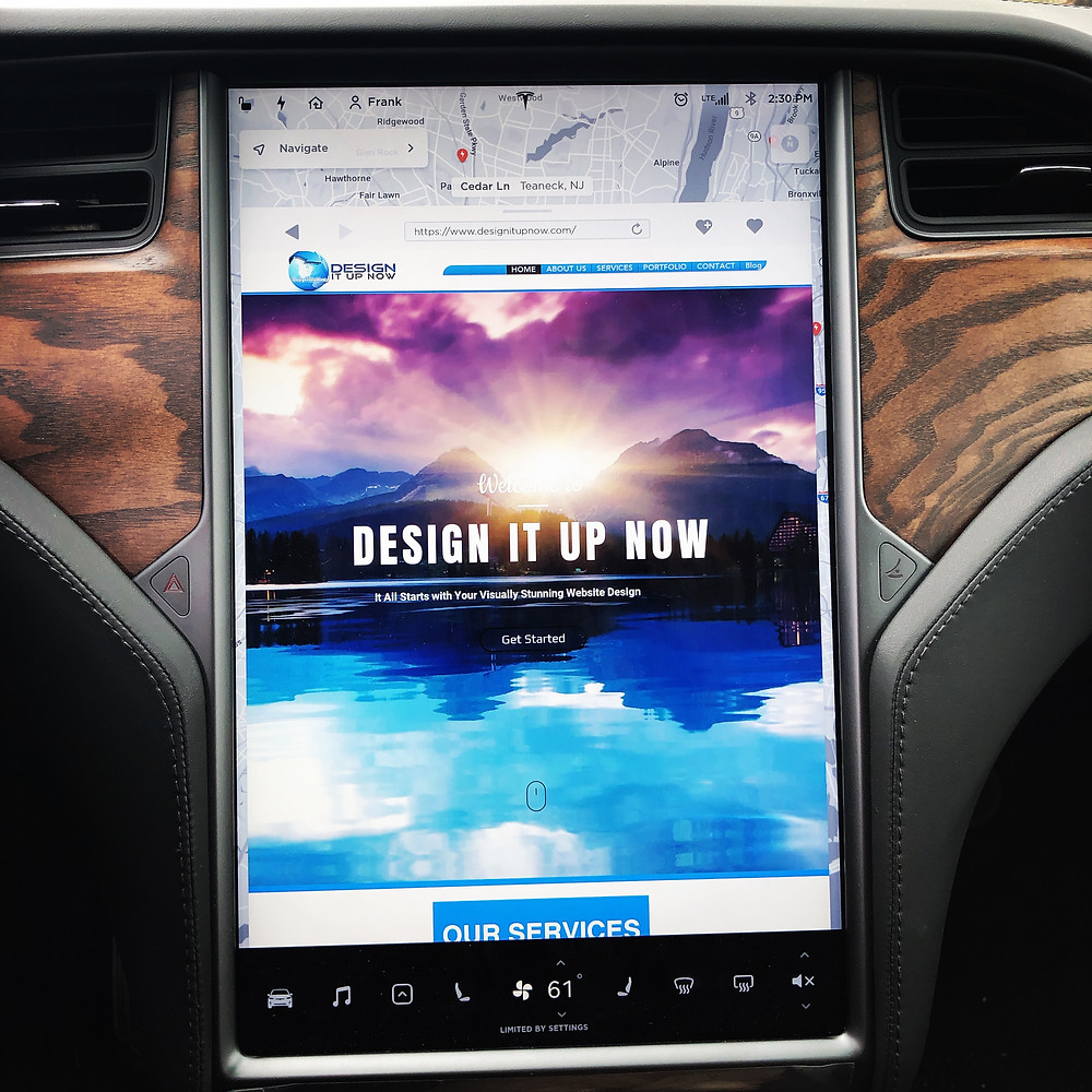 DESIGN IT UP NOW On Tesla Model X Screen