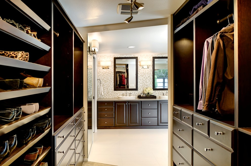 walk-through-closet-Closet-Contemporary-with-built-in-storage-chrome