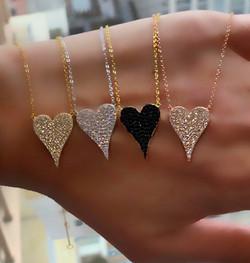 Heart Necklace with Swarovski