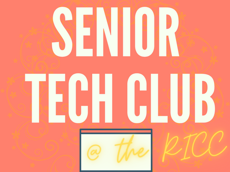 New Technology and Digital Media Club for Seniors!
