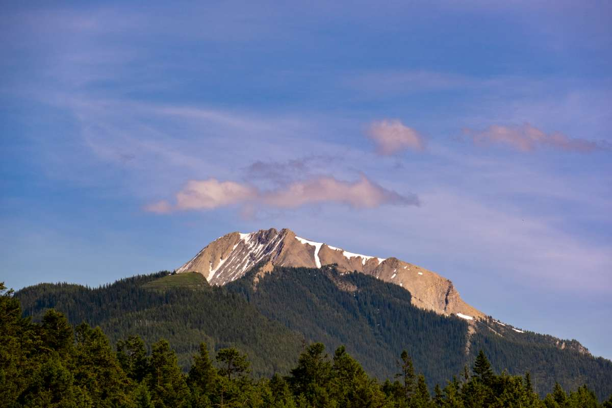 View of Mount 7 in Golden BC from Rock Mountain Adventure Park