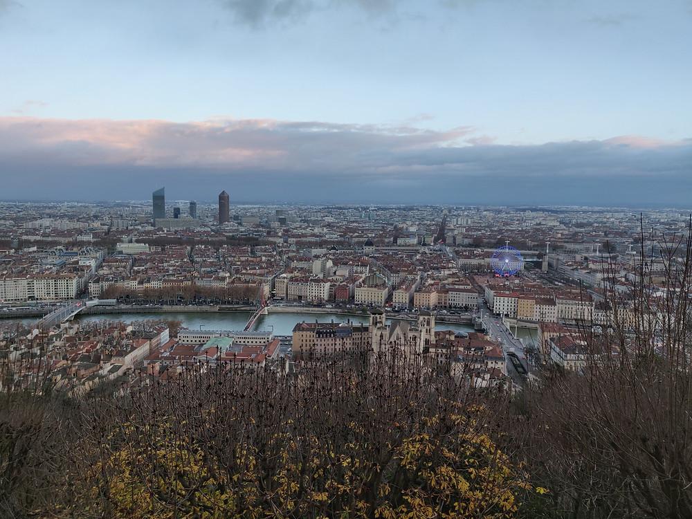 paysage lyon vue fourbiere basilique