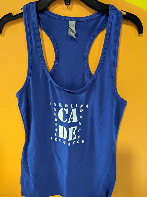 CADE Logo Racerback Tank Blue
