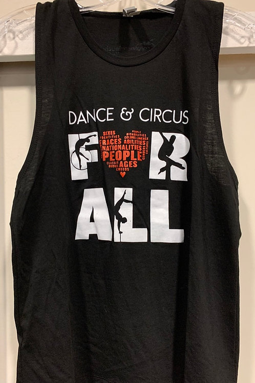 Dance & Circus For All Tank in Black
