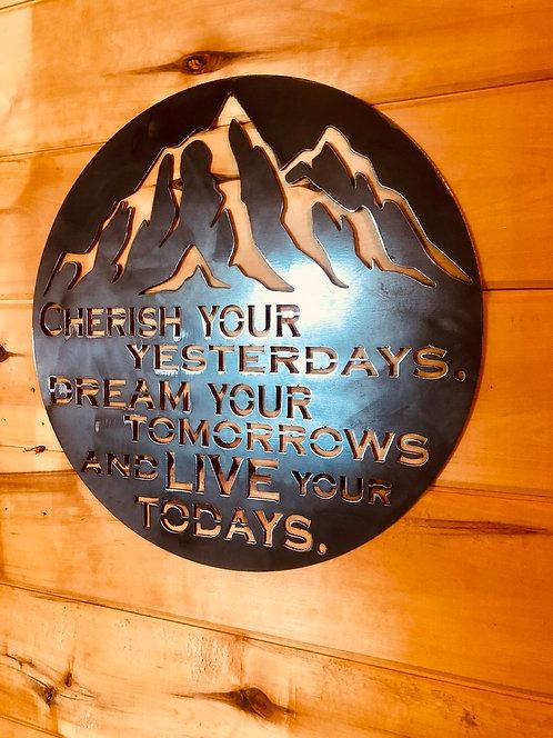 Cherish your yesterdays Sign