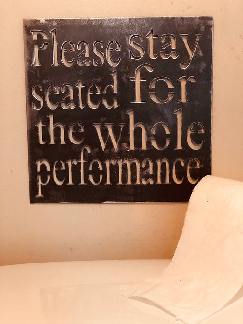 Please stay seated...