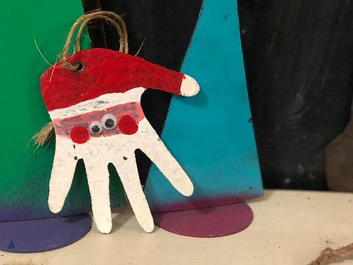 Santa Hand Ornament