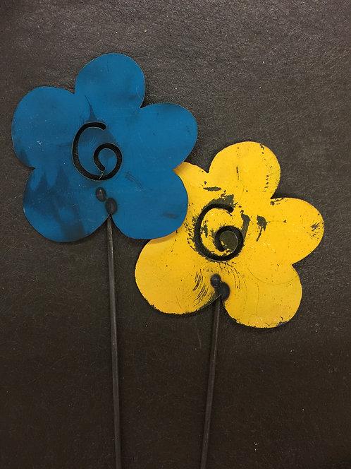 "Single Cartoon Flowers - (6"" & 8"")"