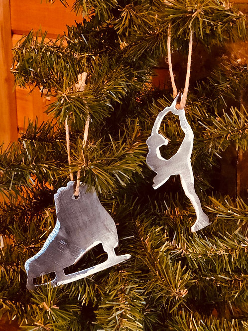 Set of Figure Skating Ornaments