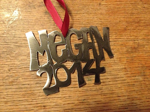 Customized Name Ornament