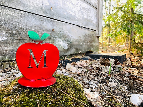 Apple Stand w/ Letter