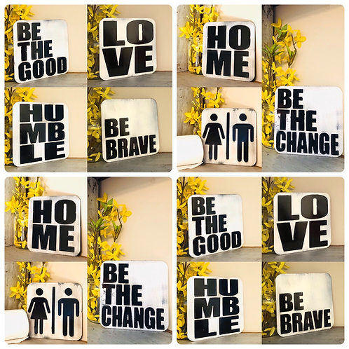 """6""""x6"""" Distressed Signs"""