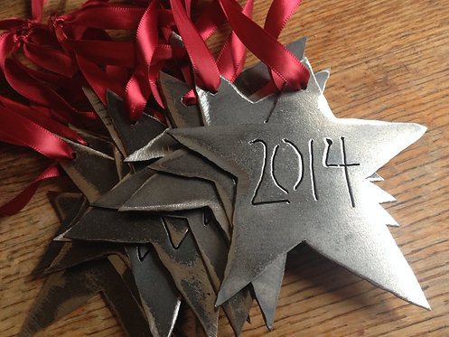 Star Ornament w/ Year