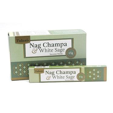 Incenso Tulasi Nag Champa White Sage 15 gr.