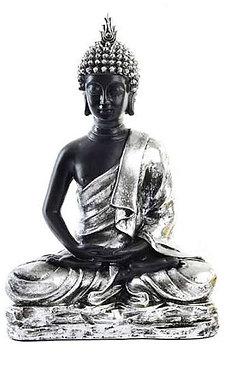 Buda Hindu Prateado 14x25x38cm
