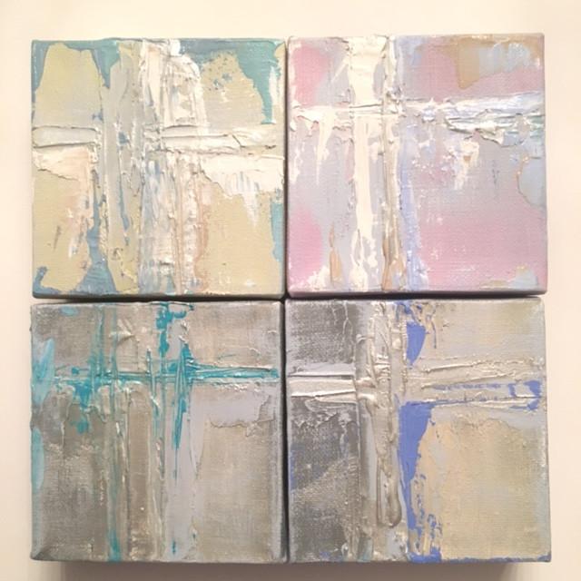 "4x4""  abstract mini crosses"