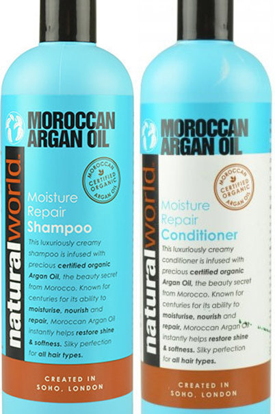 NATURAL WORLD (英國) 堅果油保濕修護 洗髮露/護髮素