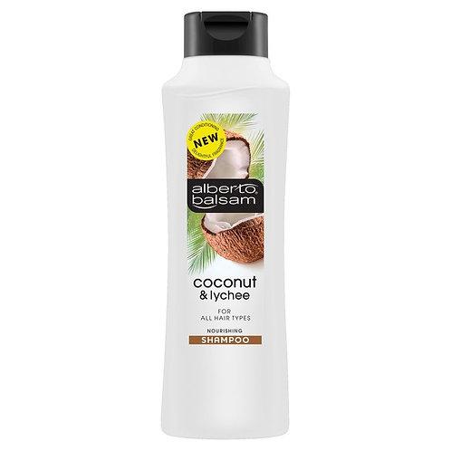 ALBERTO BALSAM (英國)  COCONUT LYCHEE 椰子荔枝 SHAMPOO 洗髮露 350ml