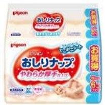 貝親軟厚乳液濕紙巾補充裝 80片x6包