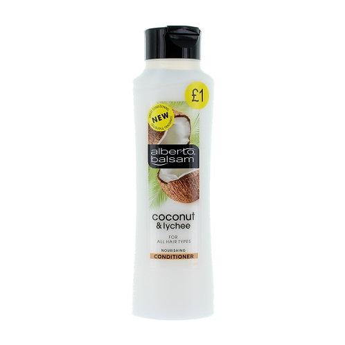 ALBERTO BALSAM (英國)    COCONUT LYCHEE 椰子荔枝 CONDITIONER護髮素  350ml