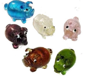 Small Glass Pig