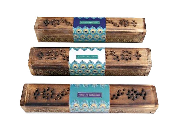 Incense Sticks in Wooden Box