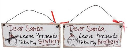 Christmas Brother Sister Plaque