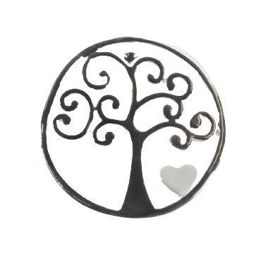 Tree of Life Heart Brooch