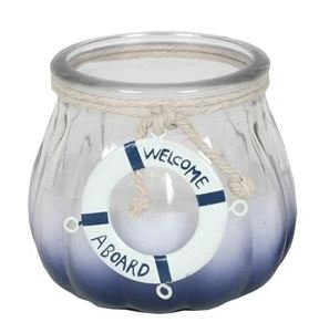 Nautical Candle in Glass Pot