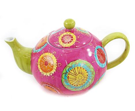 Bright Ceramic Teapot