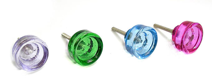 Glass Button Drawer Pull