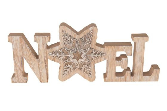 Noel Wooden Ornament