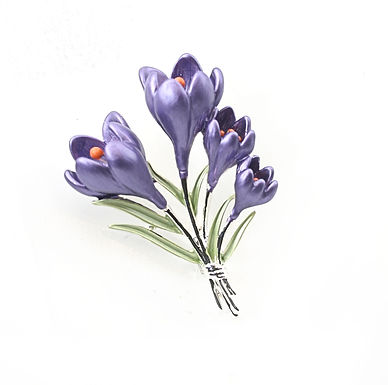 Crocus Brooch