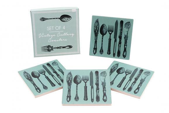 Box Of 4 Cutlery Coaster