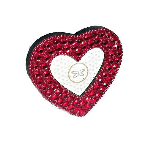 Beaded Red Heart Frame