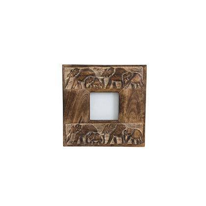 Carved Elephant Frame