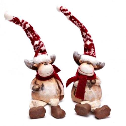 Ceramic Reindeer Ornament