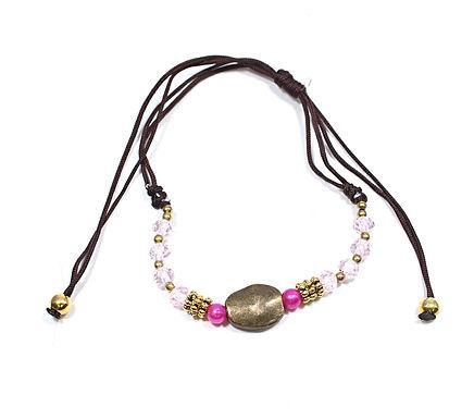 Brass And Glass Beads Bracelet