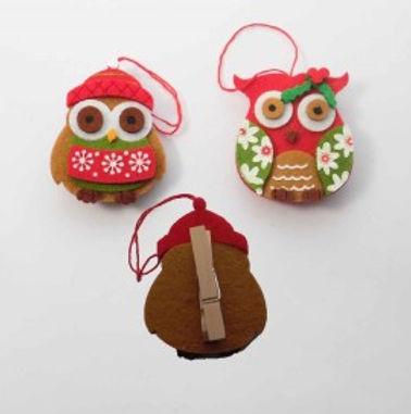 Christmas Owl peg