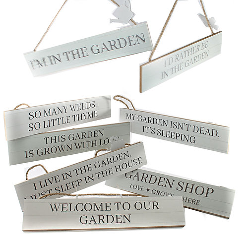 Garden Motto Hanger