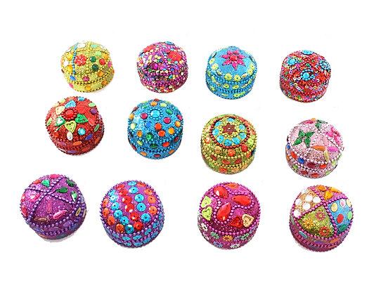 Mini Round Glitter Box