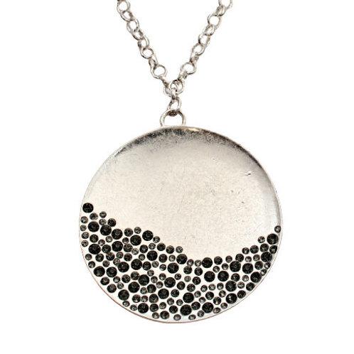 Diamante Disc Necklace