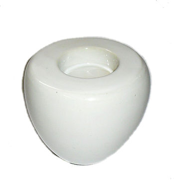 Candle Holder White Ceramic Oval Flat Top 1 Tlite