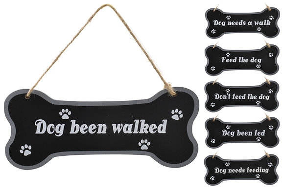 Wood dog bone plaque