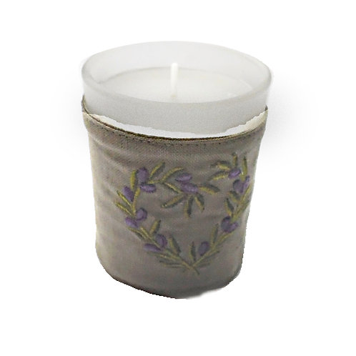 Candle in Glass Pot Lavender
