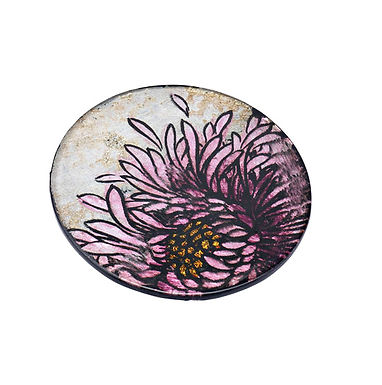 Glass Flower Coaster