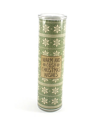 Christmas Candle In Glass Tube